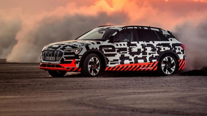 Audi Etron In The Test The SUV Shows That Ecan Make Cars Fun - What company makes audi cars