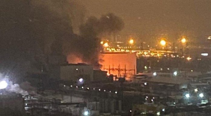 A transformer caught fire at thermal power station in Moscow