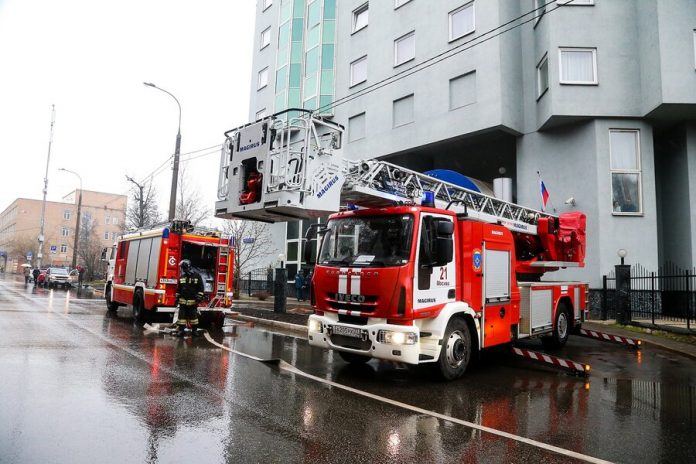 At a fire in a hotel on the North-East of Moscow were evacuated 20 people