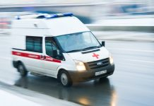 Car knocked down three people at the bus stop in Dolgoprudny