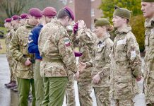 In the UK for the first time a parachutist paratrooper was a woman