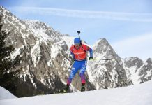 Loginov won the bronze medal in the pursuit race at the world Cup biathlon