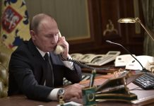 Putin had a telephone conversation with Him and Merkel