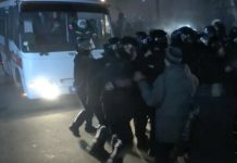 The sanatorium Ukraine clashes of protesters with the police