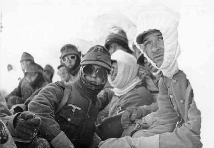 What actually was looking at the Elbrus mountain hands of Hitler