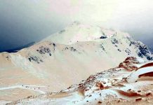 Why in the mountains is red snow