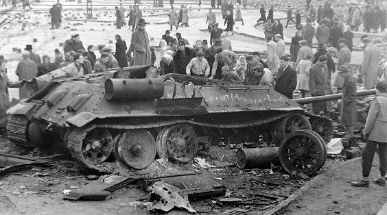How many killed Soviet soldiers during the suppression of the Hungarian uprising