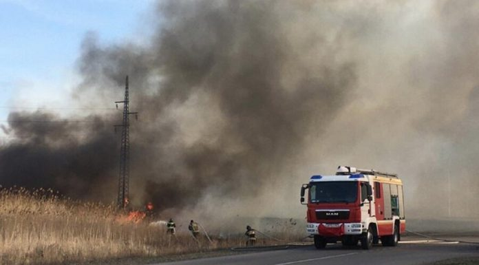 In Rostov-on-don a grass fire in the area of 25 hectares