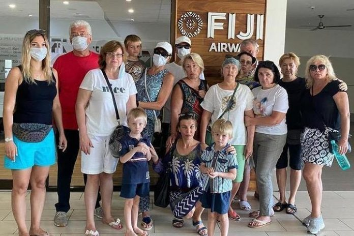 A group of Russian pensioners in Fiji: