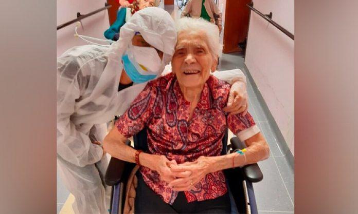 In Italy, the 104-year-old woman won coronavirus