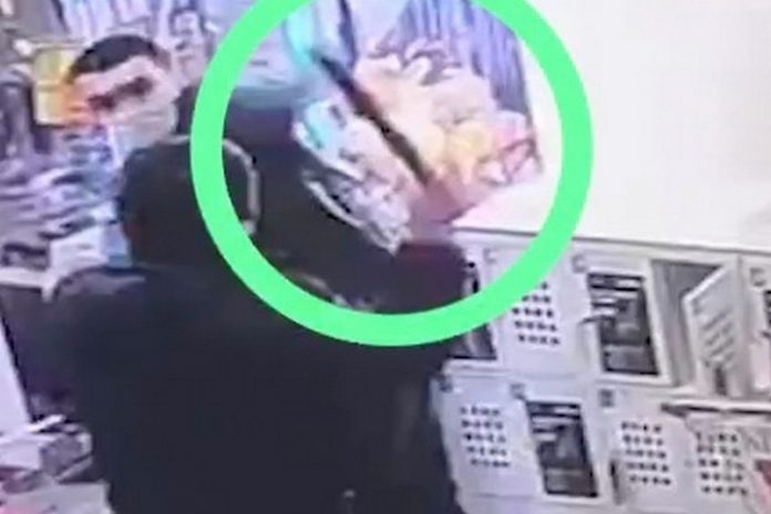 The buyer in Moscow stole a coffee and to put the seller