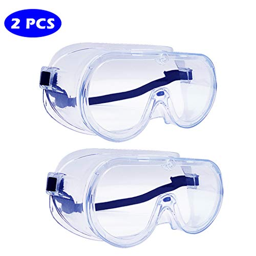Schutzbrille, Anti-Spuck-Flüssigkeitsspritze, Kontaktlinsen, staubdicht, atmungsaktiv, Augenschutz, multifunktionale geschlossene Schutzbrille 2PCS